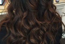 Balayage black hair