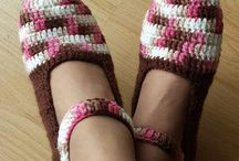 Sapato de inverno em crochê - Linha Adulto / Pink Crochê /  https://www.pinkcroche.blogspot.com.br