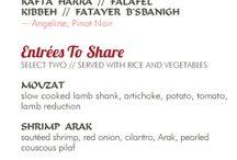 Restaurant Menus / Special menus for our events and holidays