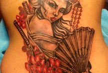 japanese geisha tattoo / back tattoo