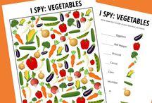 vegetables themes