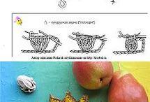 frutas de croché
