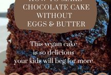 Cake with no egg or oil/ butter. Use avocardo