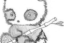 szkice słodkich zwierząt