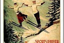Favorite European Vintage Ski Posters / Have you traveled or skied in Europe? Or have you wanted to? Throughout Europe many ride the trains as a major form of transportation. Since the early 1900s, the train station walls have been the major spot for ski areas and business to advertise with 'catchy' posters. Here are some of my favorite posters that were used to lure skiers to the slopes throughout Europe!