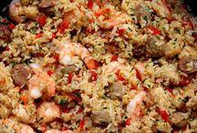 arroz con csmaron chorizo