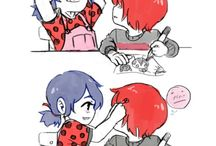 ladybug and her cat