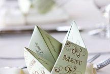Hochzeit: MENÜKARTEN