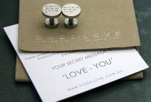 CODE LOVE Morse Code Cufflinks / Uber Cool Morse Code Cufflinks