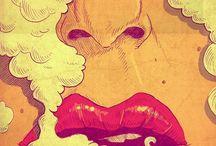 gigaretovy dym a cigareta