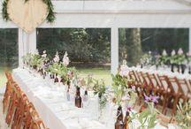 Bruiloft decoratie & styling / Mooie styling voor je bruiloft. Lampionnen, kleedjes, bloemenvaasjes, kaarsjes. Bohemian, Festival, Vintage en meer.