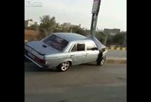 Viral Video - WTF - Video Old Mercedes Crashes Into Light Pole