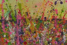 Blooms paintings by Yvonne Coomber / Original Contemporary Flower Paintings By British Artist  Yvonne Coomber