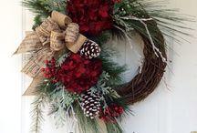Christmas wreaths thistles