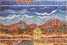 Оригинальная керамическая плитка. Мозаика.