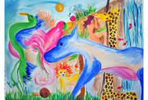 Colorful Paintings... / Painting Like A Child...