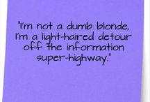 Blonde-e-ness