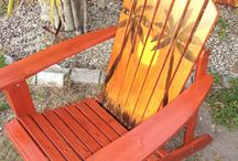 Adirondack attack! / Adirondack chairs and styles and colors in the garden.