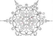 Robótki szydełkowe - gwiazdki, śnieżynki