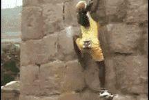Bouldering, climbing, scaling!