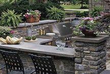 Ideas para TU terraza / algunas ideas para decorar tu jardin con una hermosa cocina... manos a la obra