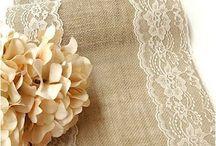 burlap lace
