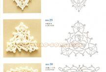 Triangulos a crochett