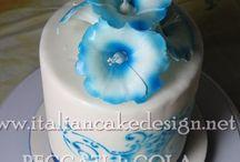 Torta angel cake surfinie con crema alla fragola e crema al limone