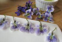 Ehető virágok és receptek