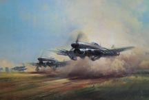 Hawker Typhoon Art Works / Artworks of WWII Hawker Typhoons at war