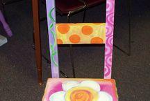 silllas pintadas