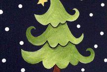 christmas paintings <3