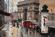 Kal Gajoum e suas belas pinturas urbanas