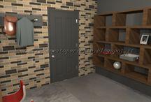 Loft in stile urban chic / Progetto d'arredo in grafica 3D di un loft in stile metropolitano