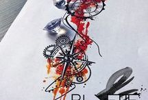 tatouage horloge