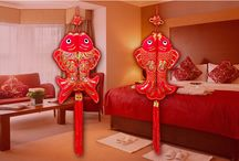 Chinese style for new year / Chinese use these traditional things decorate their house for Chinese new year