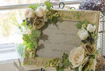 ウェルカムボードデコレーションアイデア(手作り参考) / ウェルカムボードにお花やモチーフを飾って、さらに素敵に演出しましょう!世界中から見つけた「ウェルカムボード飾り付けアイデア」をまとめました。