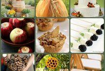 Autumnal wedding theme