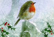 English Robins / I fell in love with English robins from the first time I read THE SECRET GARDEN.