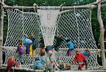 Nets + Rope + String + Crochet + Knit Playscapes