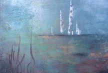 Cold Wax art by Joy A Lawson