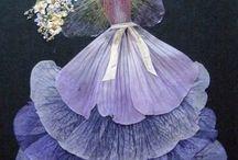 πινακες με αποξηραμενα λουλουδια