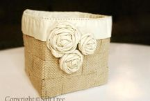 what to do with leftover wedding burlap!!