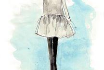 Fashion Illustrations / by Jessica Bickmann