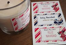 Etiquetas Navidad - by LovelyTags / Pegatinas para decorar los regalos y tarjetas de Navidad. Elige uno de nuestros diseños, lo personalizas con frases y/o nombres.