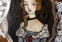 My Art / Folk art paintings by Audrey Eclectic