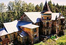 Alte Häuser in Russland