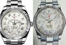 the art of watches / freehand drawings of luxury watches
