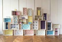 Customisation boites en bois // Deco wood boxes / De jolies idées pour customiser, décorer des boites en bois (caisse de vin, boite bois...)