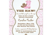 Cowgirl Baby Shower, Pink and Brown / Cowgirl baby shower theme in pink and brown paisley and gingham. DIY, planning, decor, fun food and more!
